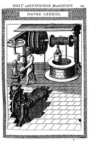 06- otra forma de máquina en la que un hombre solo puede sacar agua de un pozo