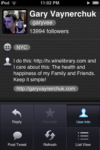 Gary Vaynerchuk on Twitterrific