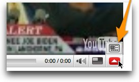 Link menu in embedded YouTube