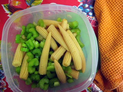 celery and baby corn