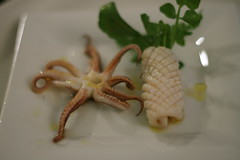 squid & watercress a la gallega (mintyfreshflavor) Tags: squid cookingclub anniversarydinner