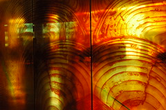 Abstract transparency (wood glass travel) (Wonderlane) Tags: seattle lighting trip travel light red people abstract motion blur color reflection art public glass modern publicspace photography gold flying airport soft mood technology place tech time contemporary fineart landin