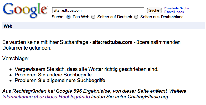 RedTube Removed from Google Germany