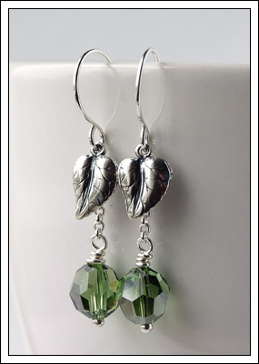 Bali silver and Swarovski crystal earrings