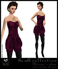 [MG fashion] The Silk Collection - Miriam (plum)