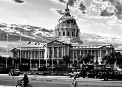 city hall (telmo32) Tags: sf sanfrancisco california city urban blackandwhite bw monochrome architecture buildings monotone creativecommons bayarea civiccenter sfbay beauxarts sanfranciscocityhall wonderfulworld sigma30mm14 nikond300 ysplixblack telmo32