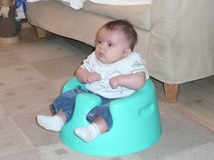 Robert in his Bumbo
