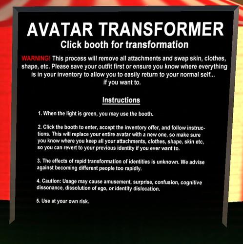 Avatar Transforme Sign