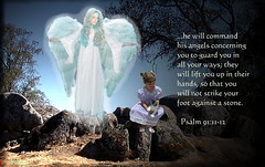 He Will Command His Angels to Guard You In All Your Ways (honey 77) Tags: light woman girl beautiful angel wings child god jesus guard lord christian guardianangel littlegirl inspirational protection scriptures godly bibleverse psalm91 whiteangel inspiks|inspirationalpictues