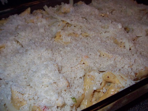 cheesy penne ready to bake