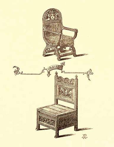 21- Muebles estilo gotico S. XV- Sillas-butacas