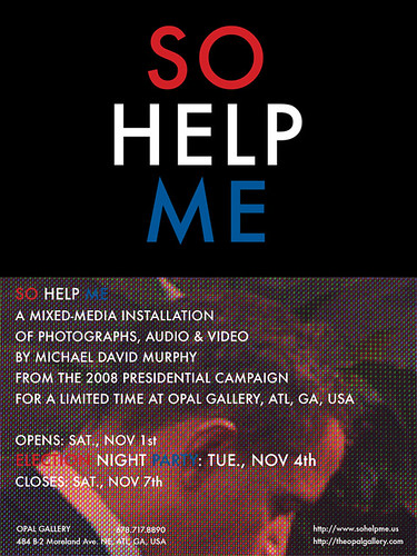 SO HELP ME EXHIBITION CARD