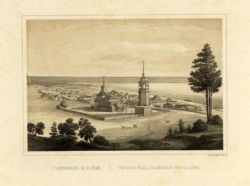 Vista de la ciudad de Olekminsk en el rio Lena