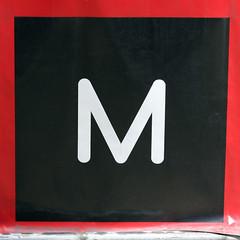 letter M (Leo Reynolds) Tags: canon eos iso100 m mmm letter f56 oneletter 70mm 0ev 40d hpexif 0011sec grouponeletter letterwhite xsquarex xleol30x xratio1x1x xxx2008xxx