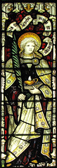 St Lucy (Lawrence OP) Tags: light church glass lamp parish palm stained virgin martyr skipton stlucy kempe