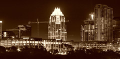 Frost Tower (TheSki) Tags: art skyline america austin bank austintexas americana atx bestshot frosttower flickrhits theski davidgaiewski austinartbeautiful