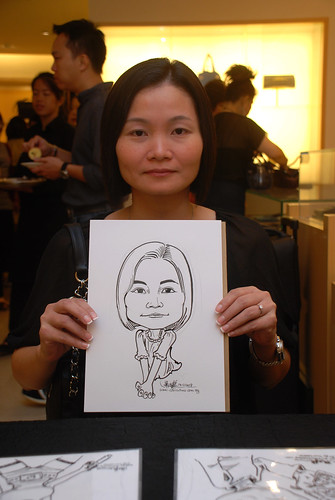 Caricature live sketching for Bulgari Christmas Brunch - 3