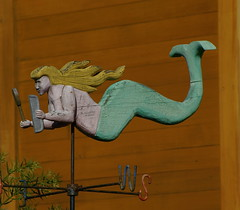 Vain Mermaid (Greg Adams Photography) Tags: ca sculpture color art fun cool colorful artistic marin houseboat funky calif mermaid sausalito hhac2000
