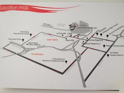 TENJI JAPANESE BUFFET @ Solaris Mont' Kiara : Map