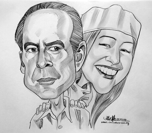 Couple caricatures in pencil 151008 - 1