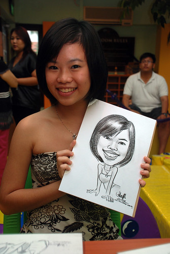 Caricature live sketching for Aloha Mini Carnival 2008 7