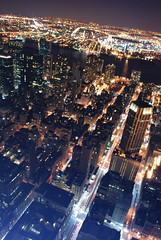 manhattan & brooklyn (hannah.mishin) Tags: city nyc newyorkcity night buildings nightshot empirestatebuilding nycskyline senic newyorkcitylights