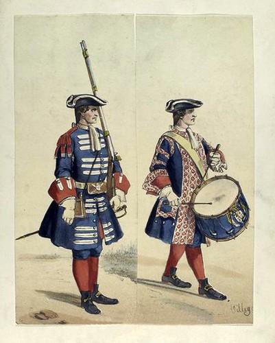 021-Fusilero y tambor años 1700 a 1716