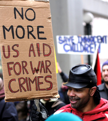 No More US Aid for War Crimes