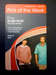 Starbucks iTunes Pick of the Week - Blind Pilot - One Red Thread