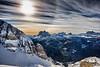 Cortina D'Ampezzo (Stefania Barbier) Tags: travel winter vacation sky italy sun mountain snow ski mountains cold tourism sport tour view tourist achievement valley slope italianalps touristic slopes veneto cortinadampezzo