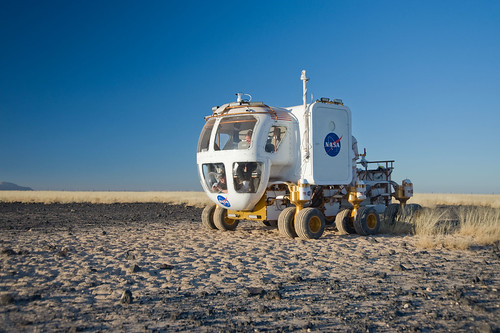 NASAs new rover will allow astronauts to explore the moon in the safety of a pressurized cabin. (Courtesy NASA)