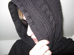 #19 - Damn Paparazzi (katbaro) Tags: black sunglasses scarf knitting shy 365 project365 project36519 365moments hoodiescarf