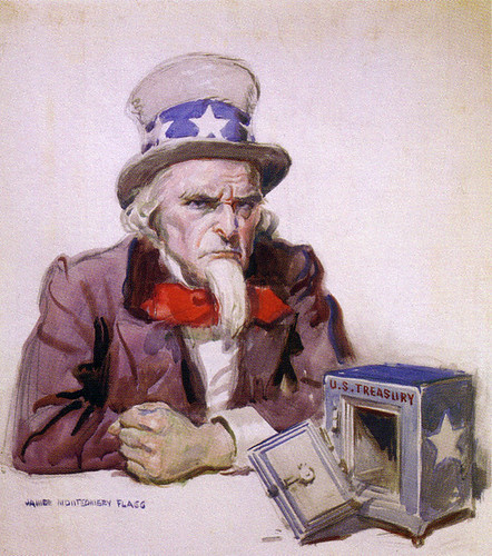 Uncle Sam empty bank (due to tax refunds!)