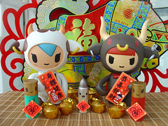Year of the Ox (ecpica) Tags: toys happiness chinesenewyear ox mozzarella yearoftheox goldingots playcommy bulleto