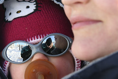 Self-portrait (BorisJ Photography) Tags: winter baby mountain selfportrait snow mountains cold girl sunglasses closeup natural freezing czechrepublic 2008 schneekoppe nautre czechia riesengebirge pecpodsnkou snka malpa sudetenmountains fisbob borisjusseit