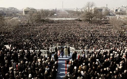 Obama Inauguration - Colorized B&W