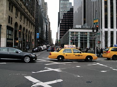 yellow taxi in the city