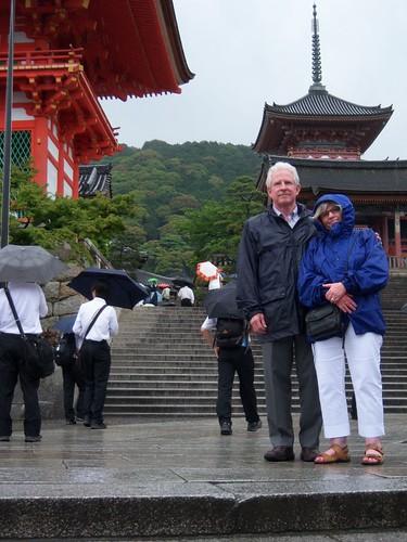 In front of Kiyomizudera
