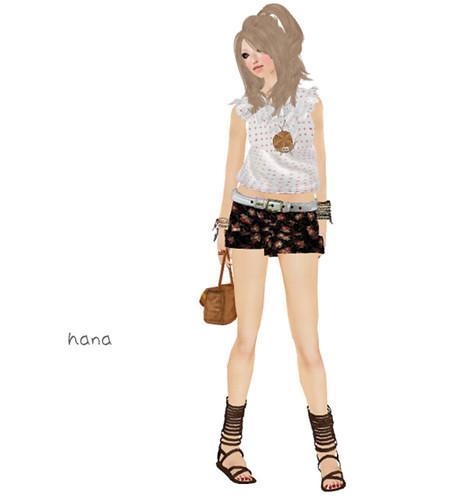 *salire Floral short pants(LB)