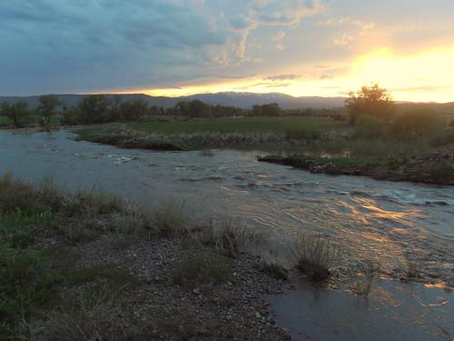 Wesier River at sunset