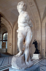 Michelangelo, Rebellious Slave front view