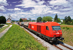 Tolats (tau280) Tags: color train sterreich rail railway zug trains freight bb ausztria herkules lokomotive 2016 gter gterzug diesellok vonat vast neckenmarkt teher tolats hortischon