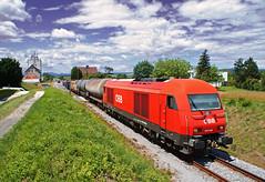 Tolats (tau280) Tags: color train sterreich rail railway zug trains freight bb ausztria herkules lokomotive 2016 gter gterzug diesellok vonat vast neckenmarkt teher tolats hortischon