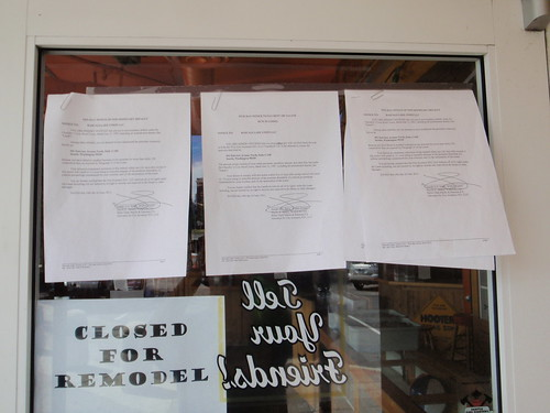 Hooters Lake Union eviction notices by Xymon