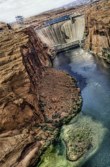 (BlackRockBacon) Tags: blue arizona orange lake green river colorado pentax dam page 1750 powell tamron k5 photomatix lakepowelhdr