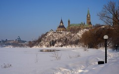 Ottawa River Eastward View - Ottawa 03 08 (Mikey G Ottawa) Tags: winter snow ontario canada ice landscape ottawa capital ottawariver capitalcity riverice mikeygottawa flickrelite