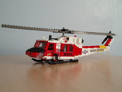 HH-1N Twin Huey (1) (Mad physicist) Tags: rescue model lego huey helicopter usnavy iroquois nasfallon hh1n