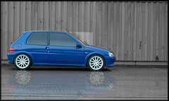 Reflection (Revels) Tags: macro scenic clean modified gti peugeot alloys indigoblue snowfoam 106gti
