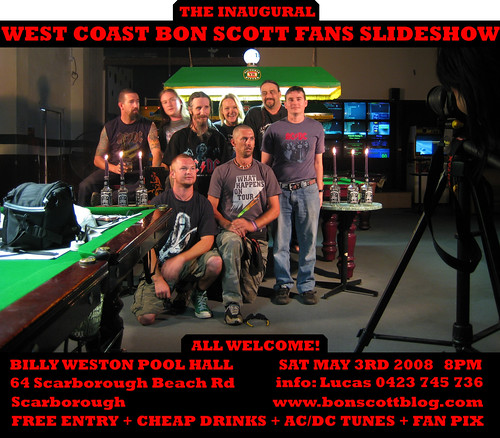 BON SCOTT SLIDESHOW FLYER