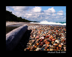 Up North (Michael Koole - Vision Three Images) Tags: rock michigan olympus upperpeninsula lakesuperior lucecounty twoheartedriver c720